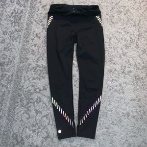 Athleta Sonar Rainbow Reflective Legging